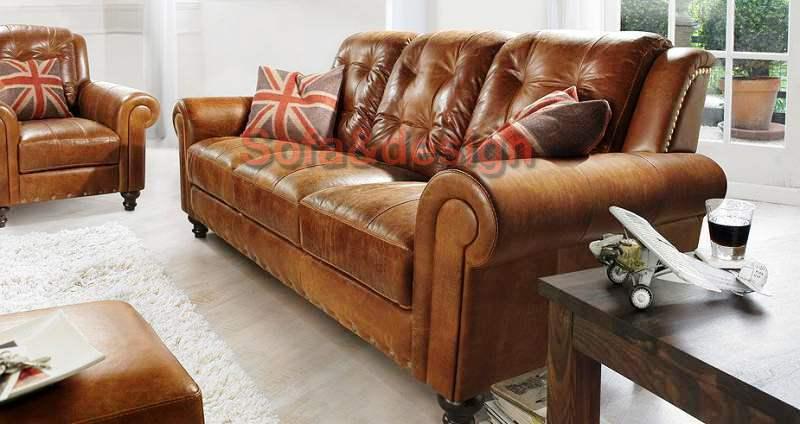 23762 - Кожаный диван на заказ