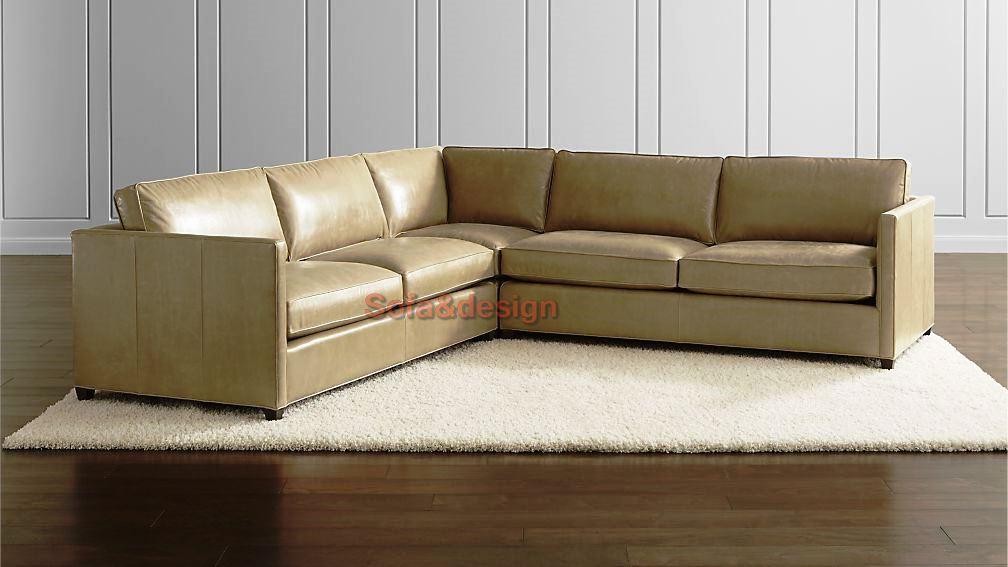 DrydenLthr3PcLAandRAAptSofaCornerMushrmSHS16 16x9 - Кожаный диван на заказ