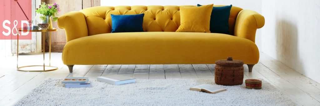 1673905 dixie yellow velvet sofa 1024x341 - Наши работы