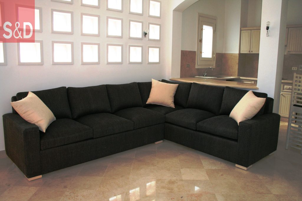 Black L Shaped Sofa 1024x683 - Наши работы