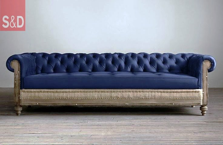 Restoration Hardware Deconstructed Chesterfield Upholstered Sofas - Прямой диван на заказ