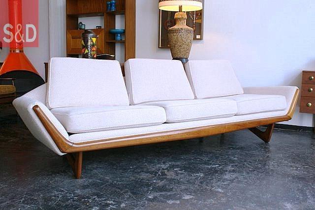 ZSofa Adrian Pearsall Cream Gondola - Авторский диван на заказ