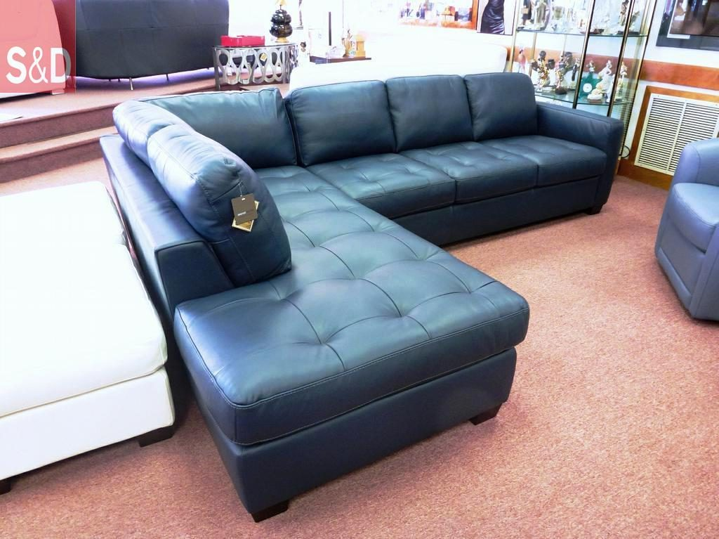 interesting navy blue leather sofa chaise inside comfy room with navy leather sofa navy leather sofa 1024x767 - Угловые диваны на заказ