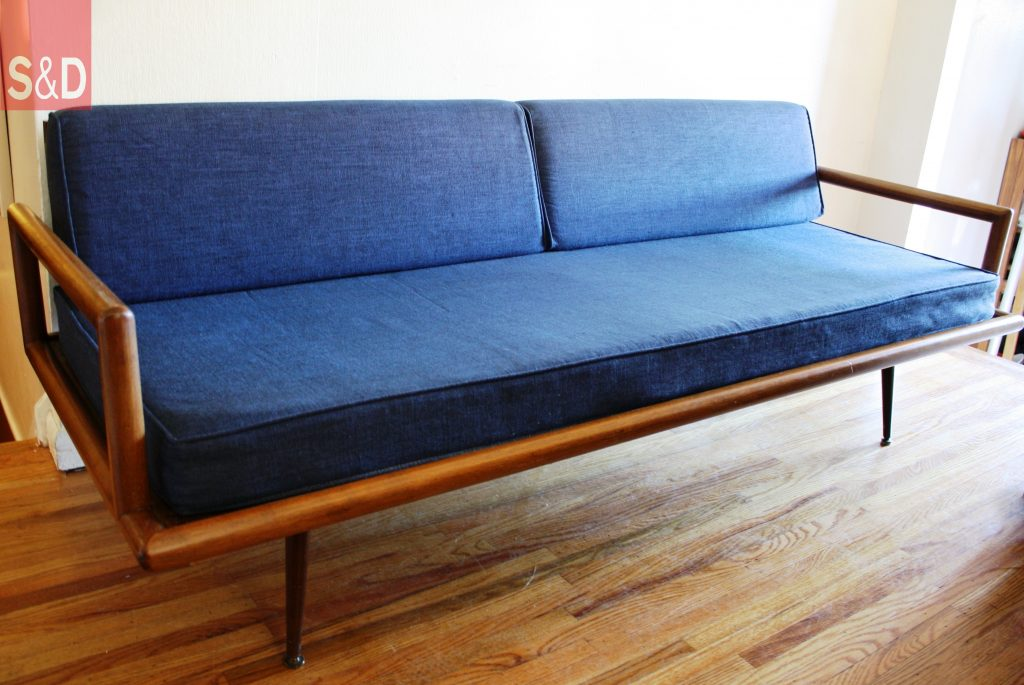 mcm blue splayed couch 1 1024x685 - Авторский диван на заказ