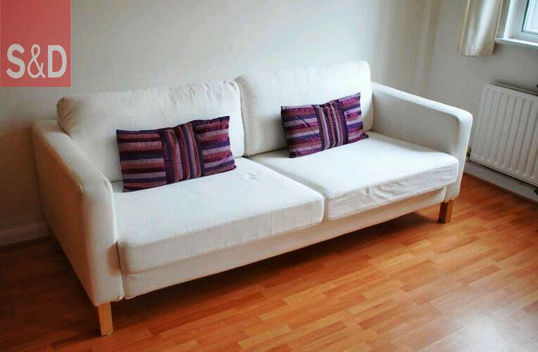 postadsuk.com 1 ikea karlstad white 3 seater sofa - Авторский диван на заказ