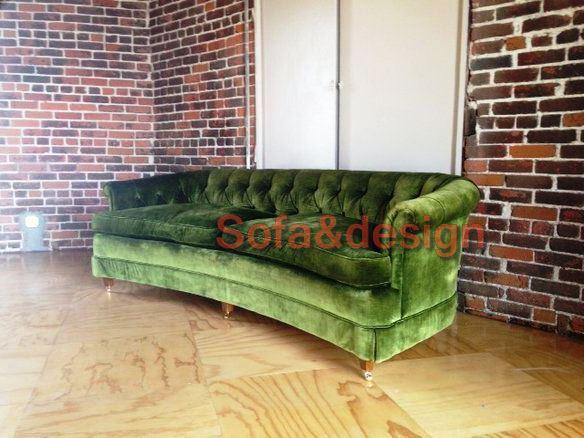 623e58c148a0631b894bb89cde30eee3 velvet tufted sofa blue velvet sofa - Зеленый диван на заказ