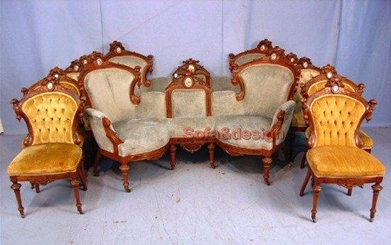 Parlor suite - Мягкая мебель в стиле Рококо