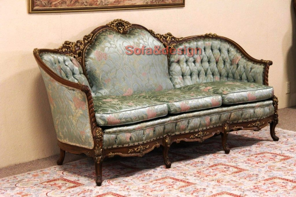 sold french style carved 1940s vintage sofa original harp pertaining to vintage sofa styles 1024x682 - Мягкая мебель в стиле Рококо