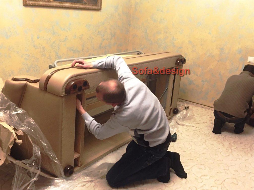 Kozhanyiy divan pryamoy3 1024x768 - Прямой Кожаный диван