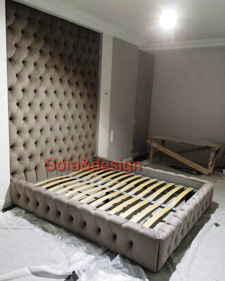 1248 n - Мягкая кровать под заказ