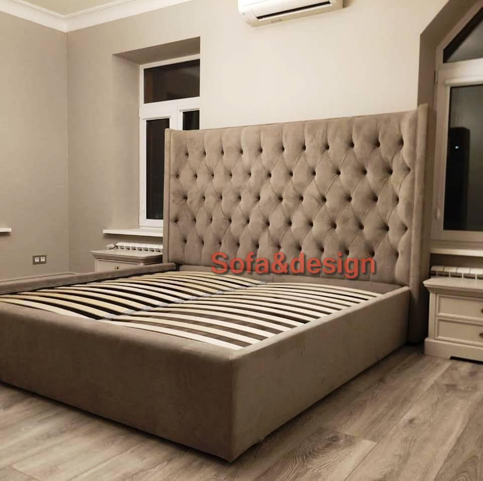 352 n - Мягкая кровать под заказ