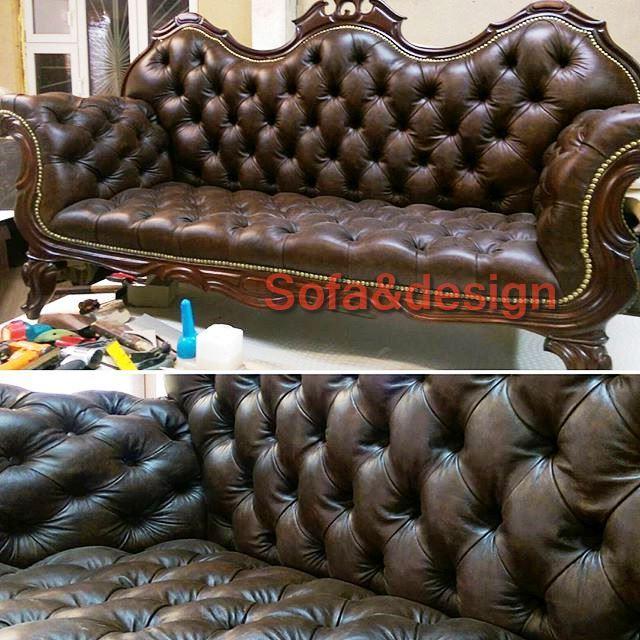 571 n - Кожаный диван на заказ